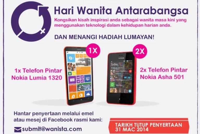 [ Hari Wanita Antarabangsa ] Kongsi Kisah Inspirasi Anda Dan Menangi Telefon Nokia Lumia 1320!