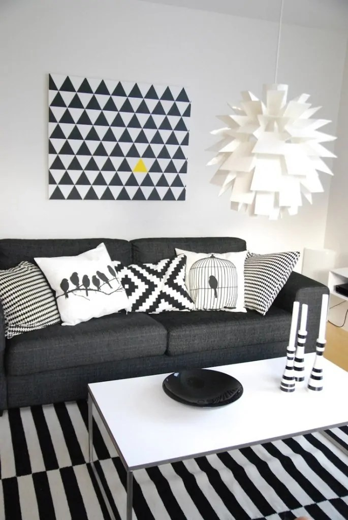 Tips Deko 15 Idea Dekorasi Ruang Tamu Dengan Warna Tema Hitam