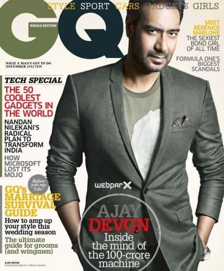 Ajay Devgan on GQ Magazine Cover Page