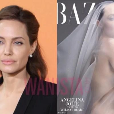 Angelina Jolie 'Telanjang Bulat' Untuk Majalah Harper Bazaar