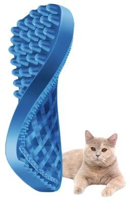 Pet+Me Cat Long Hair Brush Blue