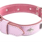 roze honden halsband