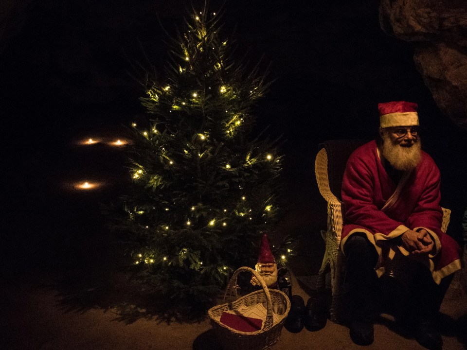 Santa Claus in Tykarp cave