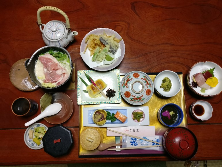 Food in ryokan