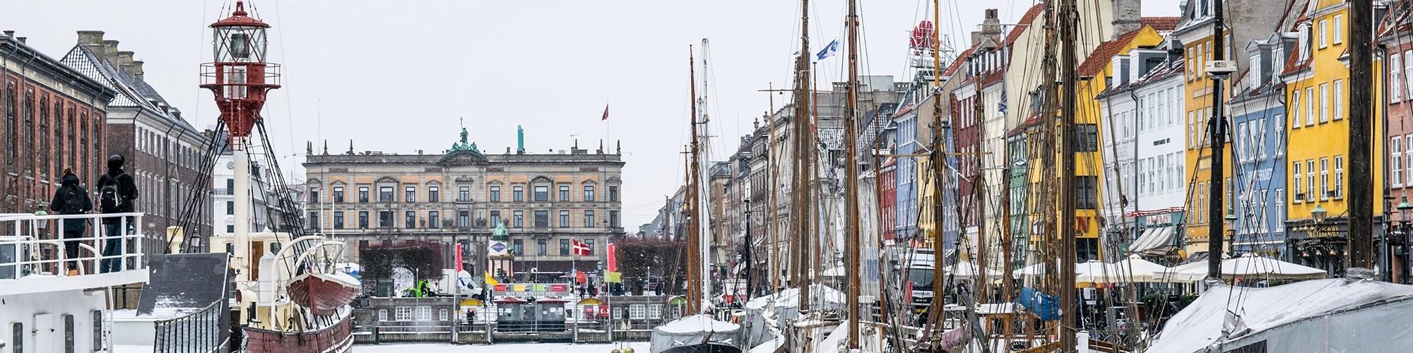 Copenhagen in snow