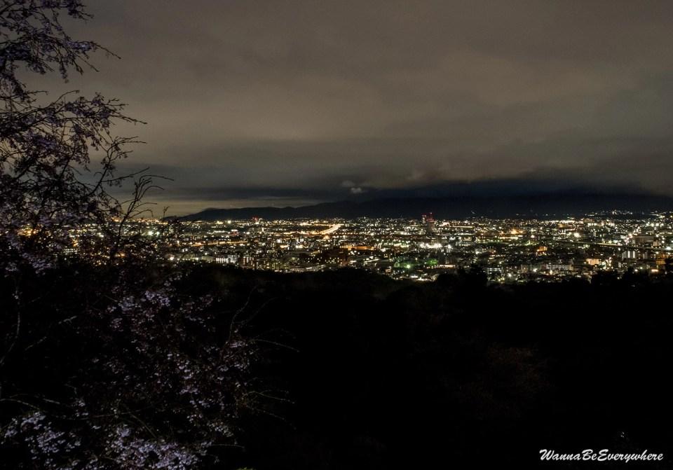 Panoramic view of Kyoto