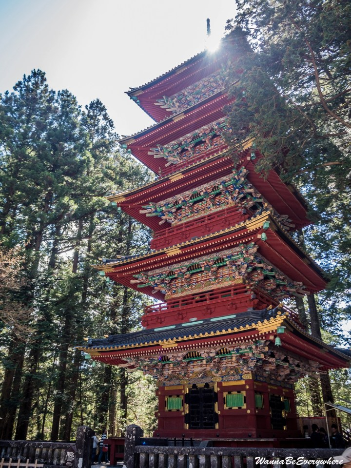 The Tosho-gu Shrine five story pagoda