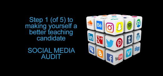 Step 1 (of 5) to making yourself a better teaching candidate SOCIAL MEDIA AUDIT