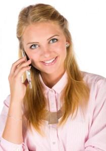 teacher making a phone call to a parent
