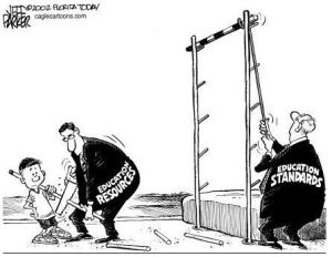 reducing resources, raising standards