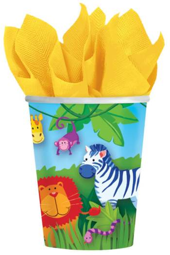 9 OZ Cup Jungle Animal - 8ct-0