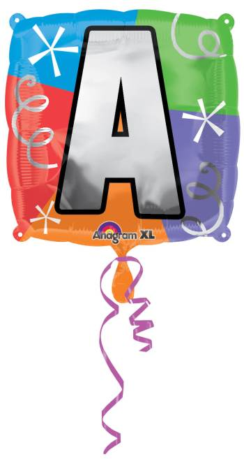 "18"" Square Letter A Balloon S30 -0"