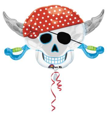 "Pirate Party Skull Balloon 28"" P35-0"