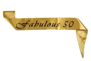 Fabulous 50 Satin Sash-0