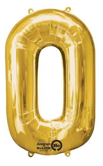 "40"" Golden Numerical 0 Balloon-0"