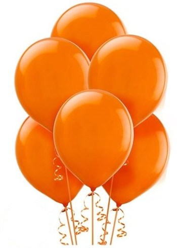 "12"" Orange Latex Balloon - 100CT-0"