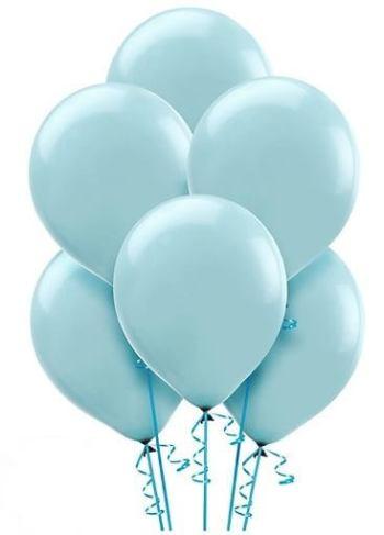 "12"" Light Blue Latex Balloons - 100CT-0"