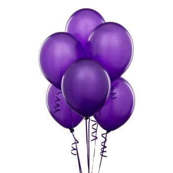 "Metallic Purple Latex Balloons 12"" - 10CT-0"