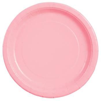 """10"""" Premium Plastic Pink Round Plates - 10CT-0"""