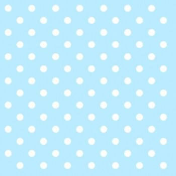 Polka Dot Paper Napkins Light Blue - 20 PC-0