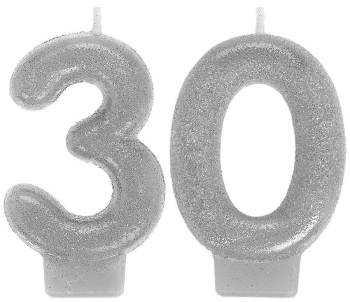 Sparkling Celebrate 30th Birthday Candle-0