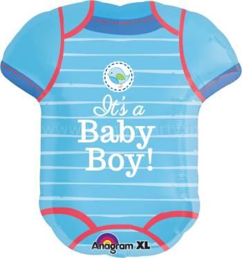 """It's a Baby Boy Romper Balloon 24"""" P35-0"""