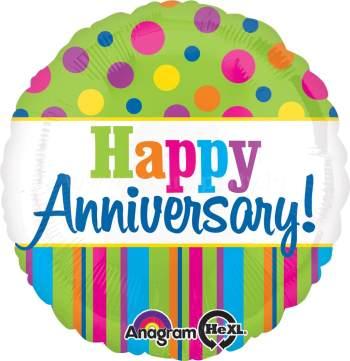 "Happy Anniversary Balloon 18"" S40-0"
