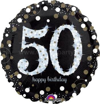 "50th Birthday Balloon 18"" S55-0"