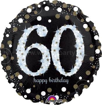 "60th Birthday Balloon 18"" S55-0"
