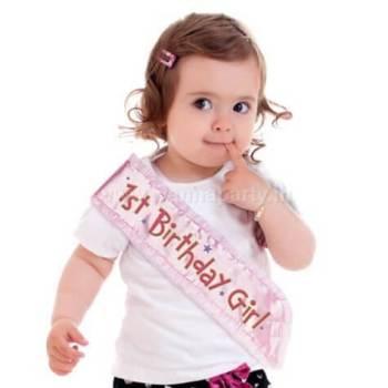 1st Birthday Girl Sash-0