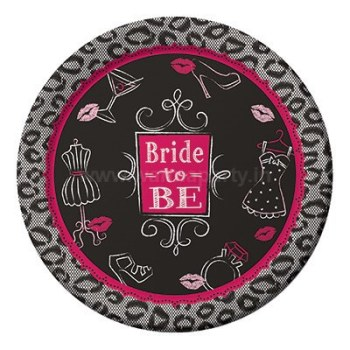 "Bridal Bash Desser Plates 7"" - 8PC-0"