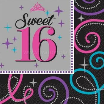 Sweet 16 Lunch Napkins - 16PC-0