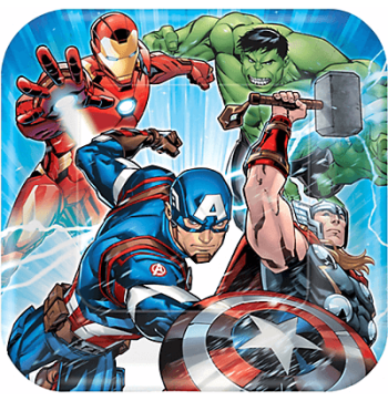 "Avengers Lunch Plates 9"" - 8PC-0"