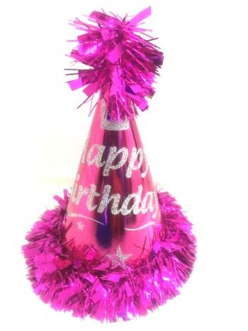 Happy Birthday Fringe Conical Hat-0