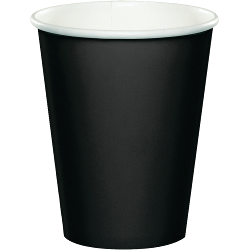 Black Paper Cups - 24PC-0