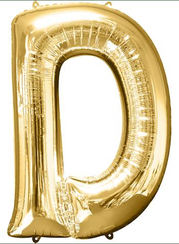 """40"""" Alphabet D Balloon-0"""