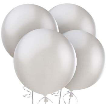 "36"" Silver Bladder Balloon - 1PC-0"