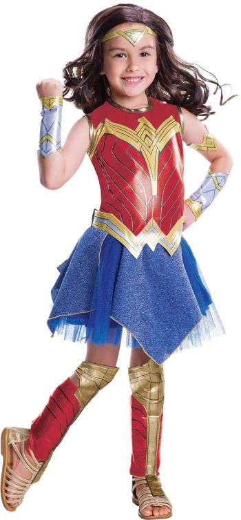 Kids Deluxe Wonder Woman Justice League Costume Large-0