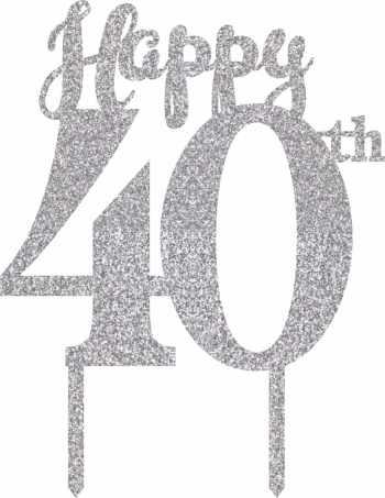 40th Birthday Cake Topper-0