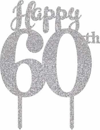 60th Birthday Cake Topper-0