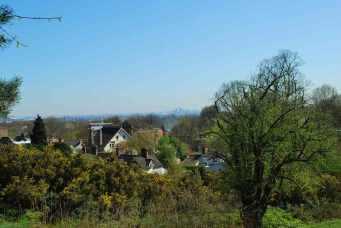 Hampstead Heath met Londen aan de einder