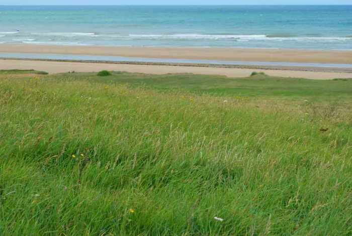 Omaha beach in Normandië