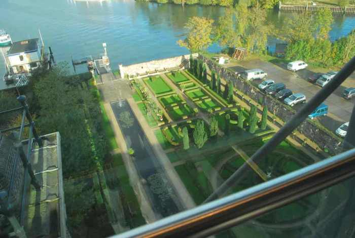 bovenaanzicht vanuit de watertoren villa Augustus Dordrecht