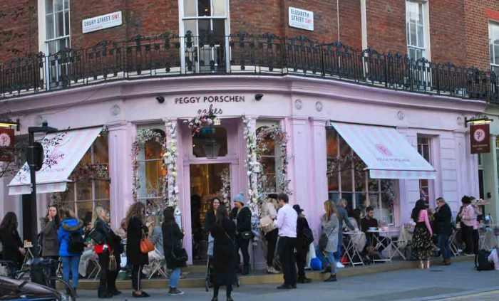 Peggy Porschen cupcakessalon Londen