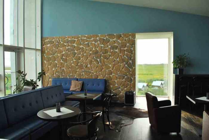 Lounge van hotel Laki IJsland