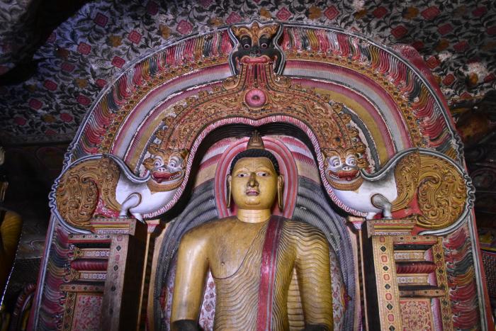 Dambulla best bewaarde muurschilderingen Sri Lanka