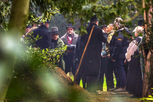 Cast of Taboo in Wanstead.  Copyright Marcus Tylor (see London News Pictures for more shots)