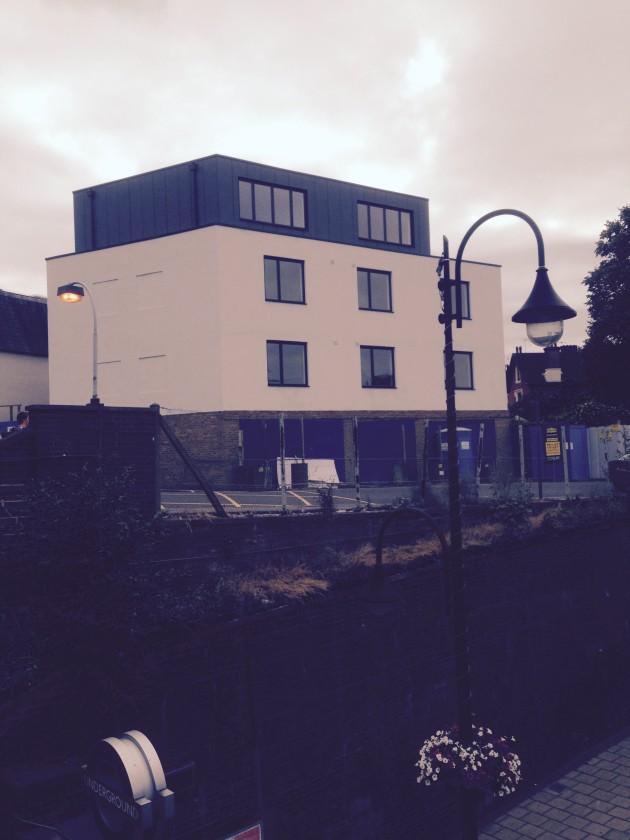 The new block at Snaresbrook Tube
