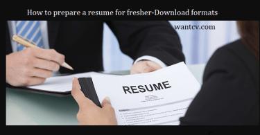 resume for fresher