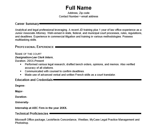 Download Resume Format for Fresher in MS Word - Wantcv com